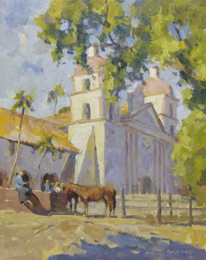 Horse At Santa Barbara Mission