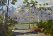 Tetons oil painting