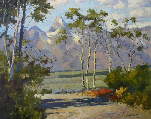Tetons cherokee club atlanta tetons oil painting for Atlanta oil painting artists