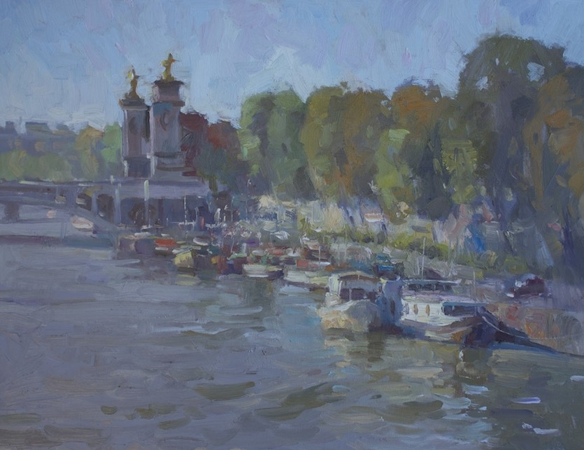 Boats Along The Seine