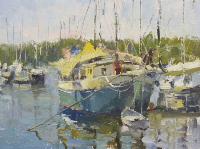 Camden Harbor, 16 x 20 oil painting