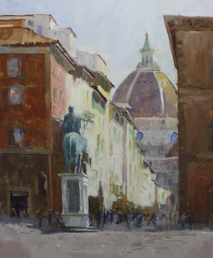 Florence Side Street oil painting (36x30)