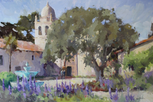 Pride of Madiera at Carmel Mission oil painting