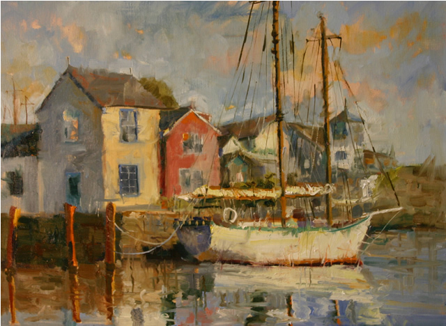 Rockport, 24 x 30 oil painting