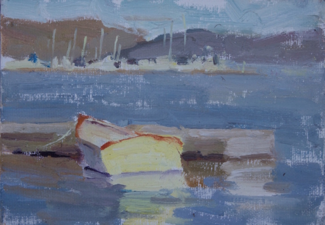 Sausalito Boat Dock (5x7) oil painting
