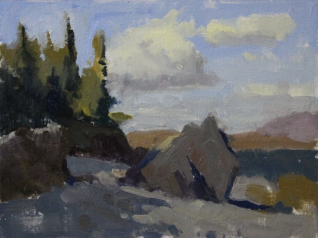 Port Clyde Shoreline oil painting