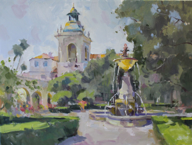 Pasadena City Hall Fountain