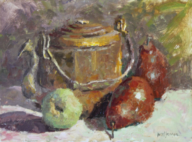 Copper Pot and Pears